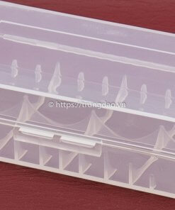 Hộp nhựa chứa 2 cục pin 18650 (2 slot 18650 battery case holder box)