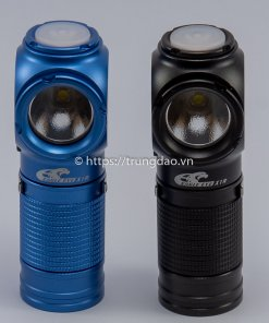 Đèn pin đội đầu Eagle Eye X1R màu xanh và đen (EagleEye X1R blue and black headlamp flashlight front-side)