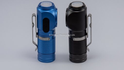 Đèn pin đội đầu Eagle Eye X1R màu xanh và đen (EagleEye X1R blue and black headlamp flashlight left-side)