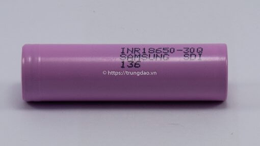Samsung INR18650-30Q 3.7V 3000mAh battery horizontal-side